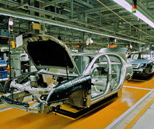 Auto manufacturing cities saw increased hiring in September.
