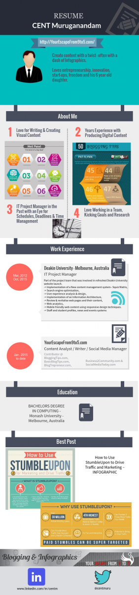 how to create an awesome infographic resume step by step guide