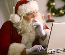 santa searching for a job